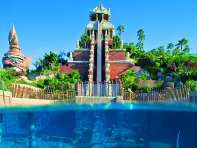 A water ride at Siam Park, Tenerife