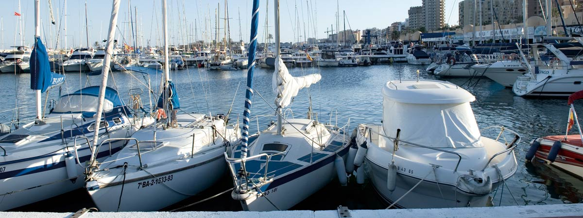 Boats in the port of Fuengirola