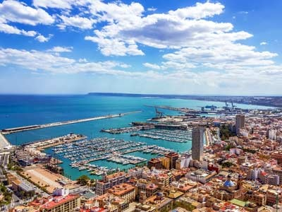 View of Alicante harbour.