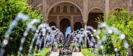 Courtyard in the Alhambra, Granada