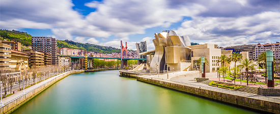 View of Bilbao with the Guggenheim Museum