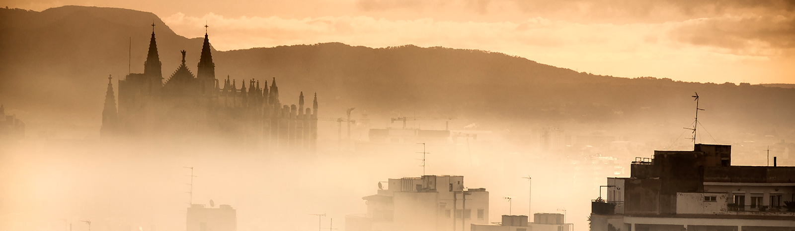 Cathedral of Palma de Mallorca in the mist