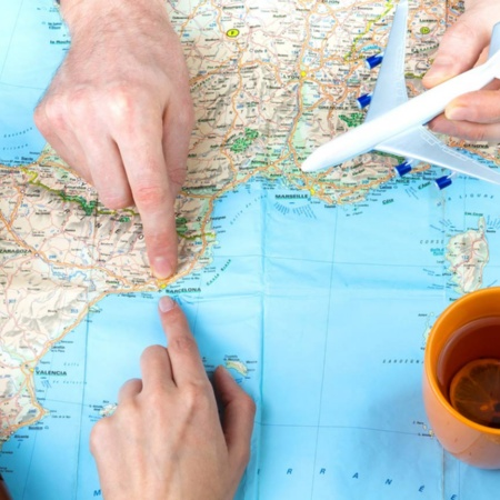 Planning a route on a map