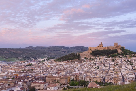 Panoramic view of Alcalá la Real (Jaén, Andalusia)