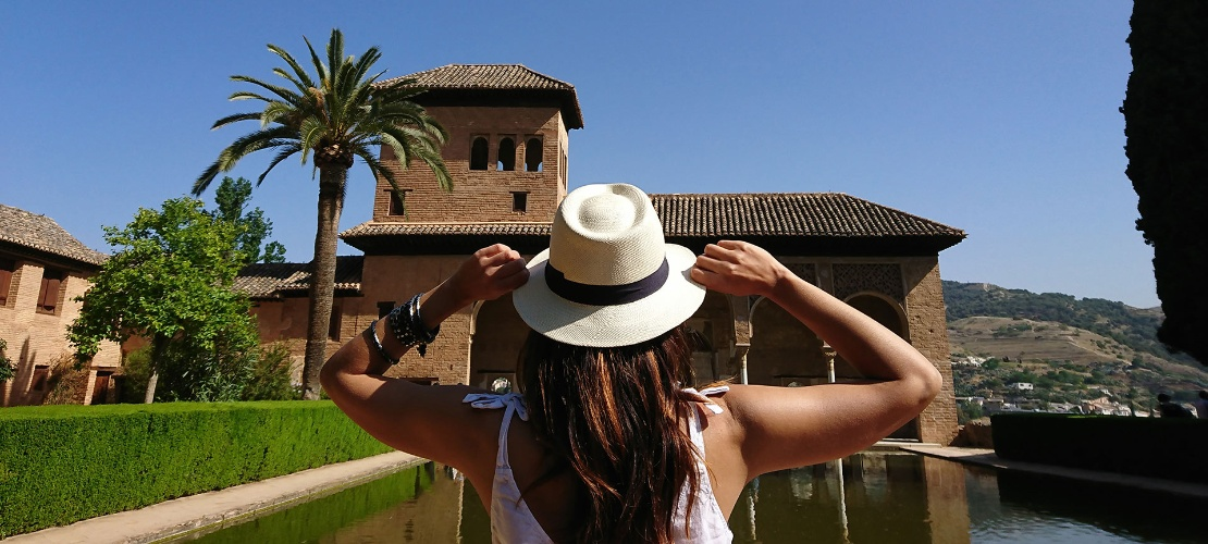 Tourist at the Alhambra, Granada