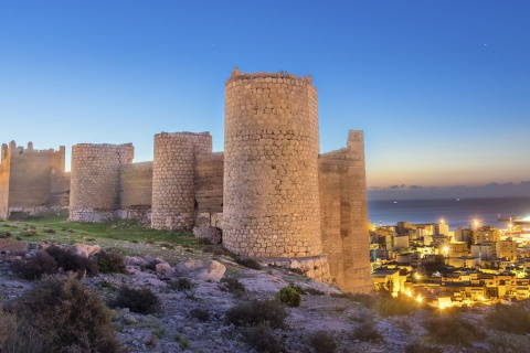 The Citadel dominates the vista of Almería (Andalusia)
