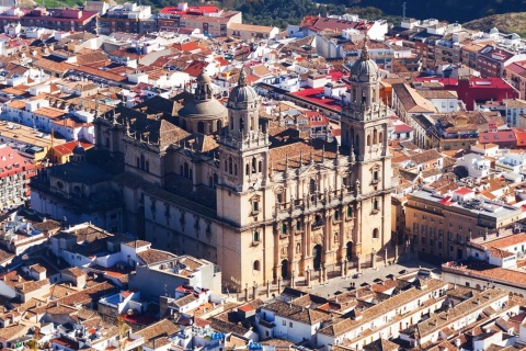 Aerial view of Jaén Cathedral (Andalusia)