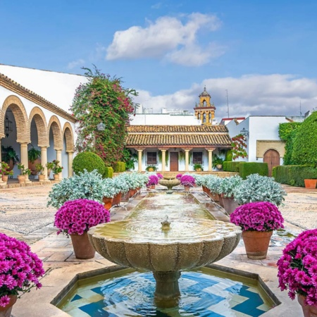 Courtyard at Viana Palace. Cordoba