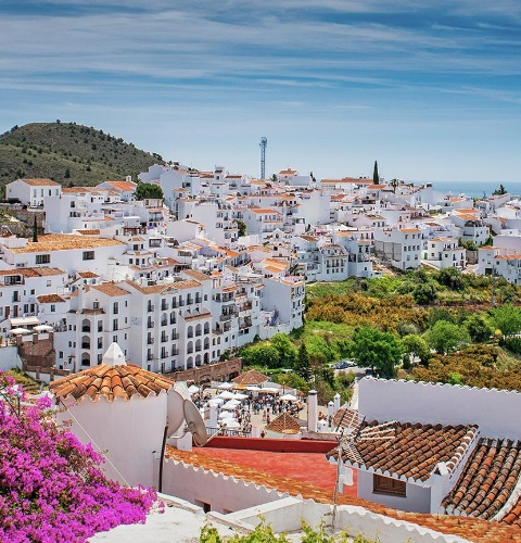 View of Frigiliana. Malaga