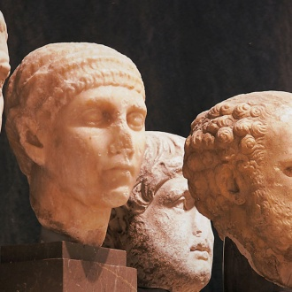 Unknown Roman heads. Seville Archaeological Museum