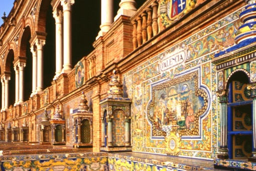 Plaza de España square in Seville