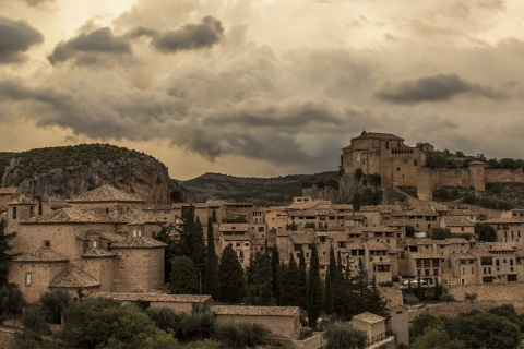 Panoramic view of Alquézar (Huesca, Aragon)