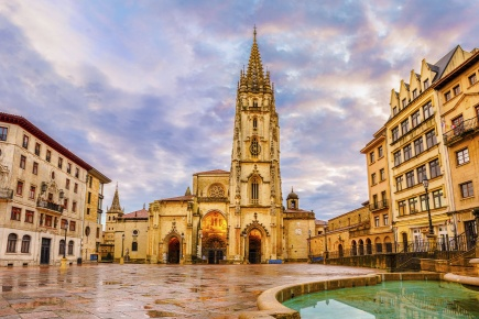 """Oviedo Cathedral in Asturias """