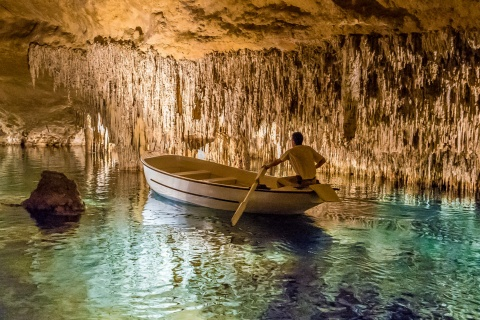 Boat ride inside the Caves of Drach, Mallorca