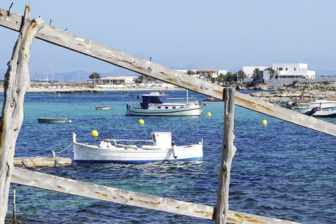 Es Pujols on the island of Formentera (Balearic Islands)