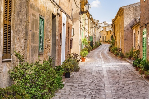 A street in Petra on the island of Mallorca (Balearic Islands)