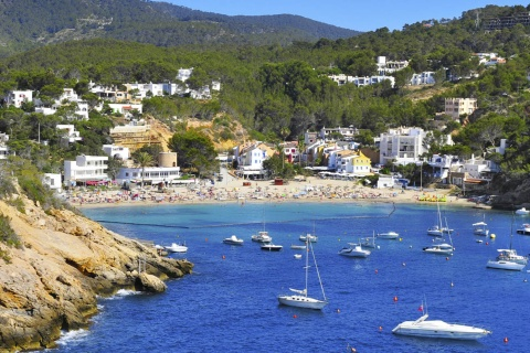 View of Sant Josep de sa Talaia on the island of Ibiza (Balearic Islands)