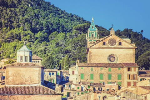 View of Valldemossa on the island of Mallorca (Balearic Islands)