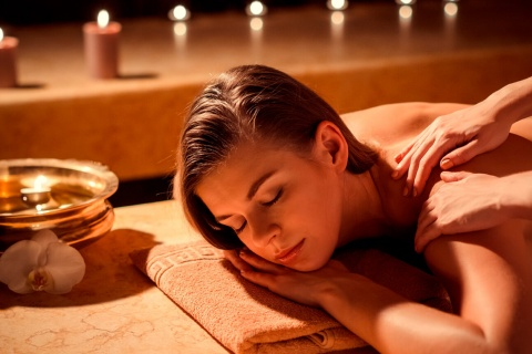 Massage in einem Spa