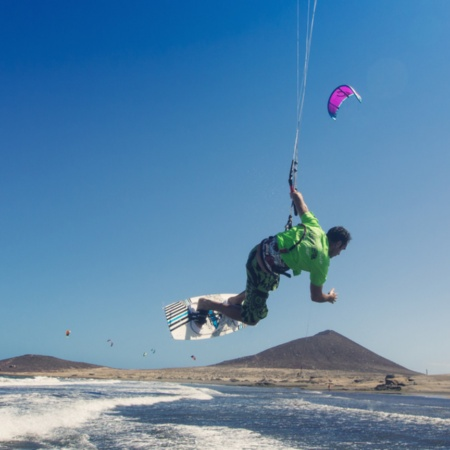 Kitesurfing in El Médano, Tenerife (the Canary Islands)