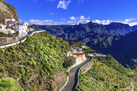 Panoramic view of Artenara (Gran Canaria, Canary Islands)