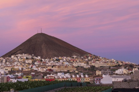 Panoramic view of Gáldar on the island of Gran Canaria (Canary Islands)