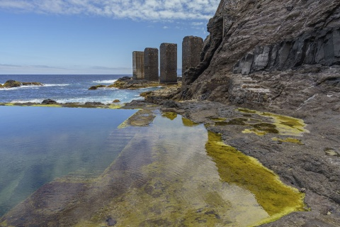 Natural pool in Hermigua on the island of La Gomera (Canary Islands)