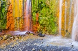Cascada de Colores in the Caldera de Taburiente National Park. Island of La Palma. Canary Islands.