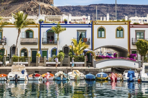 Port of Mogán on the island of Gran Canaria (Canary Islands)