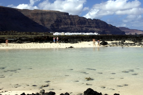 Órzola beach in Haría (Lanzarote, Canary Islands)