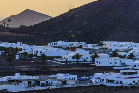 Panoramic view of Uga (Lanzarote, Canary Islands)