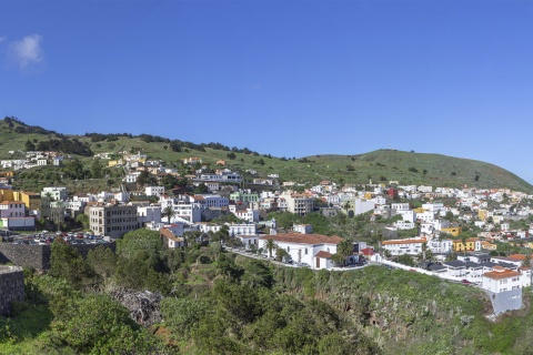 Panoramic view of Valverde on the island of El Hierro (Canary Islands)