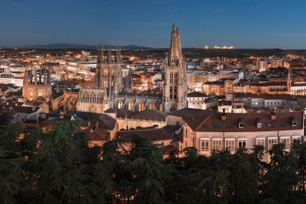 View of Burgos with the cathedral in the foreground