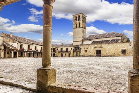 Plaza Mayor in Pedraza, Segovia (Kastilien-León)