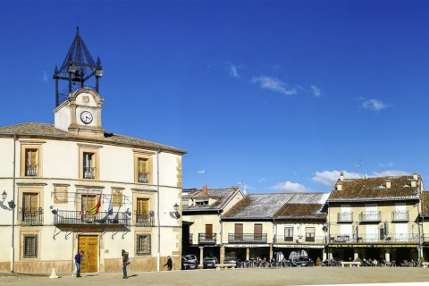 Plaza Mayor square in Riaza (Segovia, Castilla y León)
