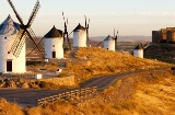 Windmills and castle in Consuegra, Toledo