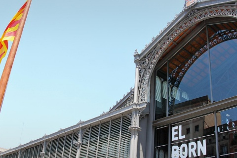 El Born Market in the Born district. Barcelona