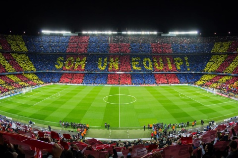 Vue panoramique du Camp Nou. Barcelone