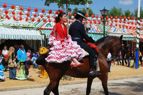 Couple at the April Fair