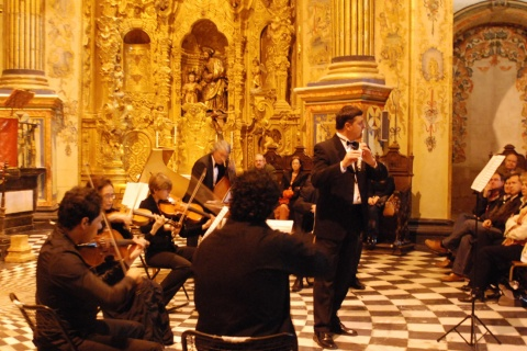View of one of the concerts in the emblematic Sacred Chapel of El Salvador in Úbeda, during the 25th edition of the Festival.