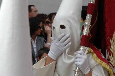 A penitent during Easter Week in Córdoba