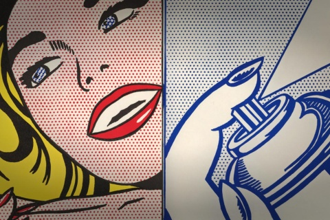 Roy Lichtenstein. Girl/Spray Can from the Walasse Ting book 1¢ Life, 1963
