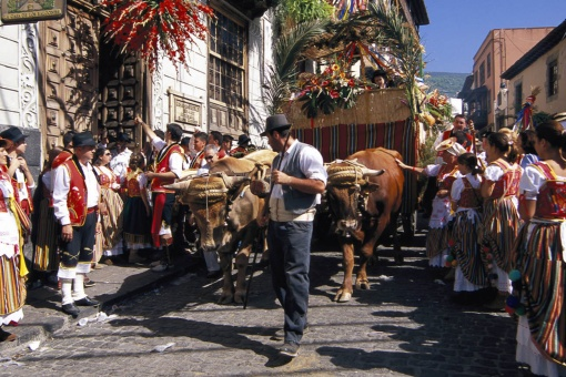 Corpus Christi and Popular Procession of San Isidro in La Orotava (Tenerife, Canary Islands)