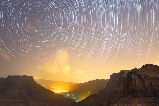 Starry sky from the island of Gran Canaria