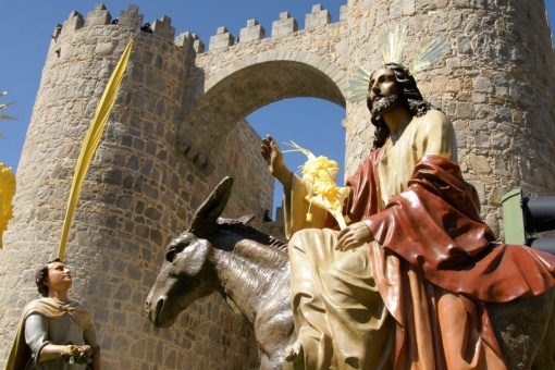 Palm Sunday procession. Easter Week in Avila