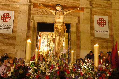 Pilgrimage of El Cristo del Amor. Easter Week in Medina del Campo. Valladolid