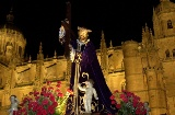 Float in a nocturnal procession through the streets of Salamanca