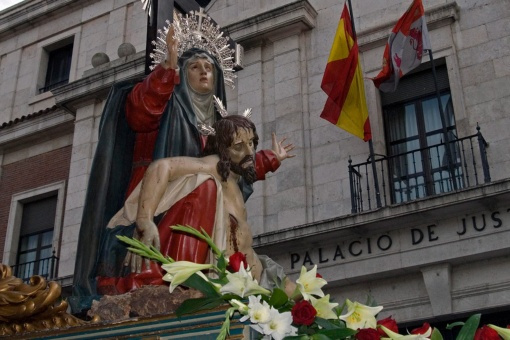 Image of La Piedad during a procession. Easter in Valladolid