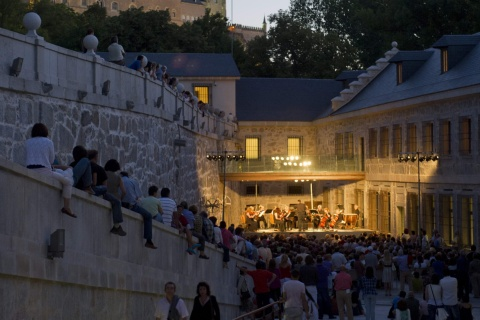 Concert by the American Chamber Orchestra at the Casa de la Moneda during a past edition of the Segovia Music Festival