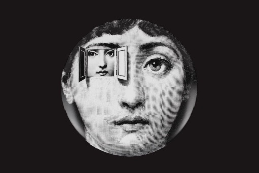 "Piero Fornasetti. Wall plate from the series ""Tema e Variazioni"", after 1950. Courtesy of Fornasetti."